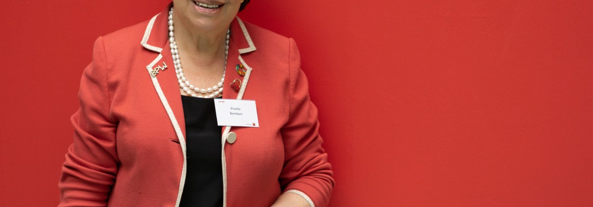 Pinella Bombaci at the Equal Pay Day Conference, Prague, April 2018